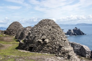 Hermit Cells on Skellig Michael of the coast of Kerry