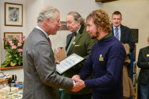 Adam, our walling ambassador, with our patron and future king