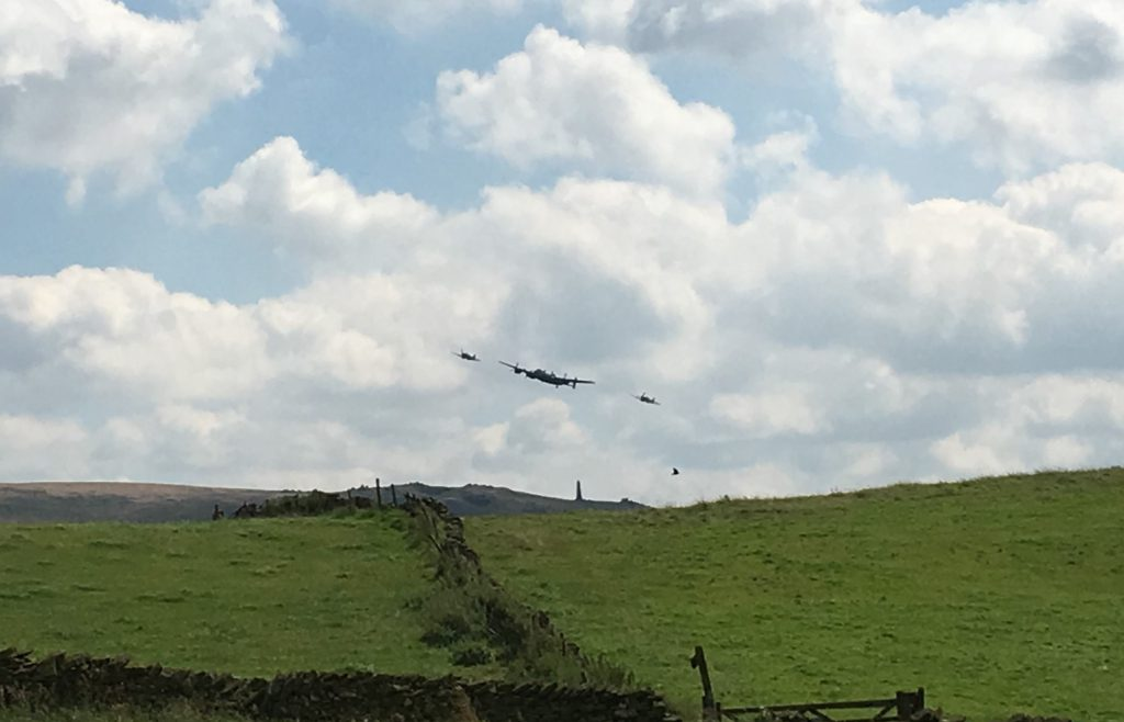 Battle of Britain Flight checking us out at Larkhill